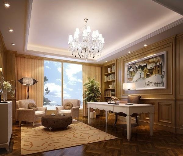 Mẫu trần thạch cao đẹp cho phòng khách. 01