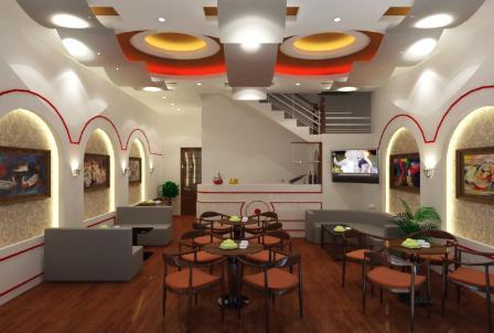 Mẫu thạch cao đẹp quán cafe hiện đại-2