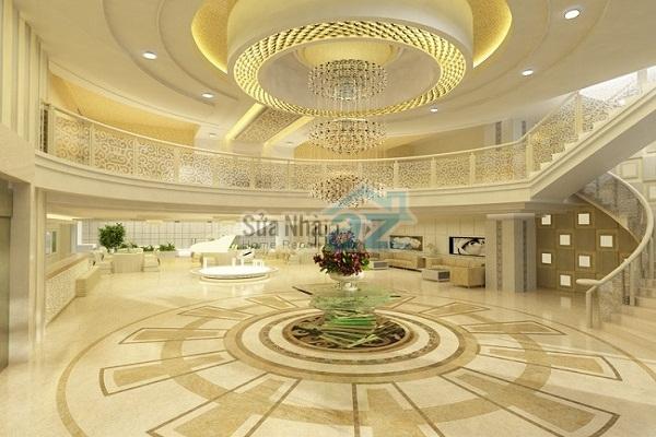 Thi công thạch cao khách sạn nhà hàng