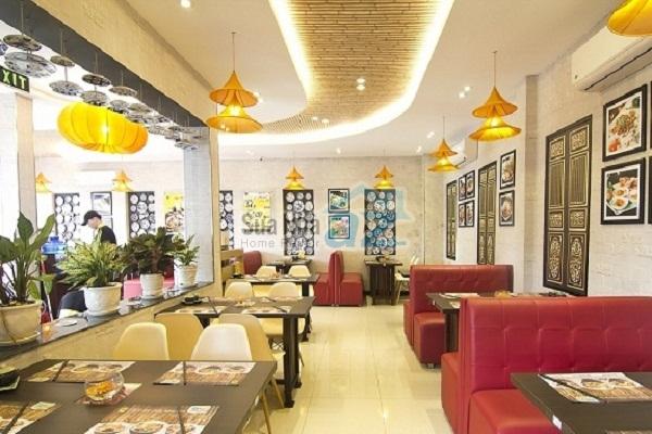 Các mẫu thiết kế trần thạch cao đẹp cho nhà hàng sang trọng - 06