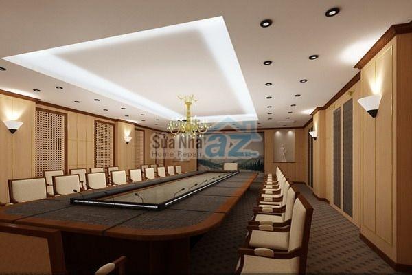 Thi công thạch cao phòng họp công ty-001