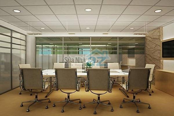 Thi công thạch cao phòng họp công ty-002