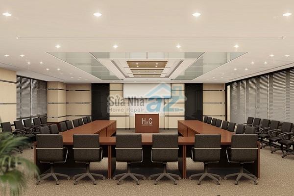 Thi công thạch cao phòng họp công ty-003