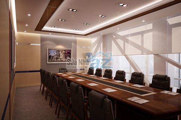Thi công thạch cao phòng họp công ty-004