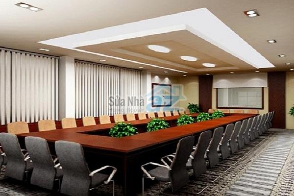 Thi công thạch cao phòng họp công ty-005