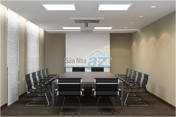 Thi công thạch cao phòng họp công ty-007