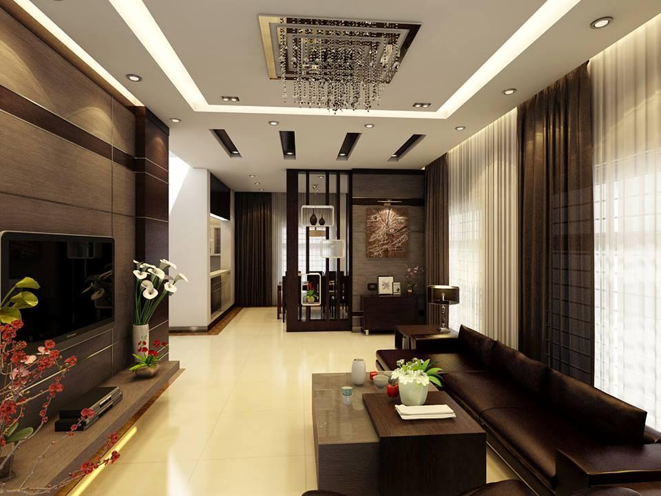 mẫu trần thạch cao đẹp nhất dành cho phòng khách-4