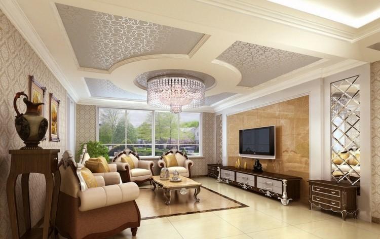 Một số mẫu thạch cao đẹp cho phòng khách hiện đại mà bạn nên xem - 4