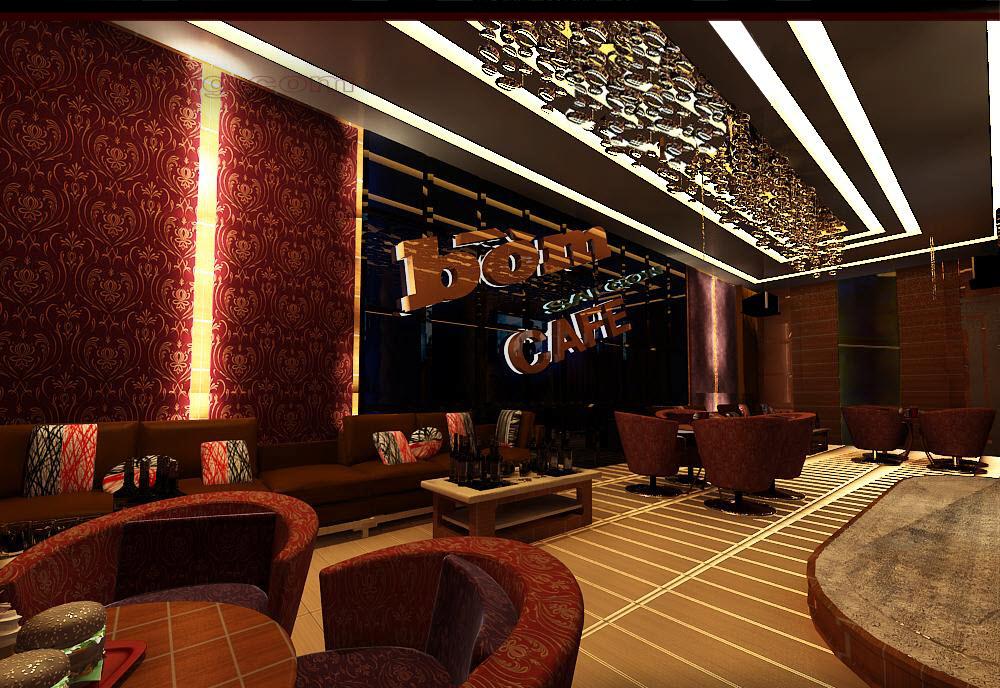 Mẫu thạch cao đẹp quán cafe hiện đại-5
