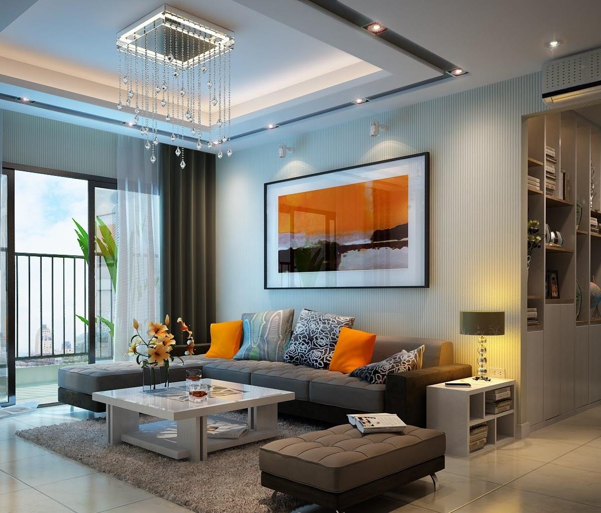 mẫu trần thạch cao đẹp nhất dành cho phòng khách-5