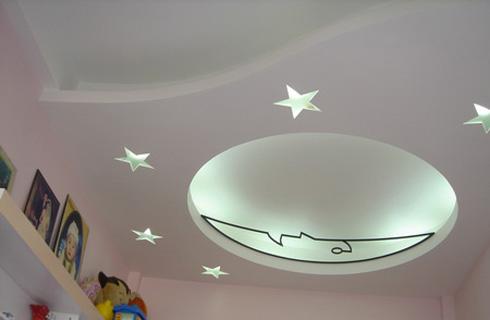 Phòng ngủ cho con - làm trần thạch cao cho nhà chung cư