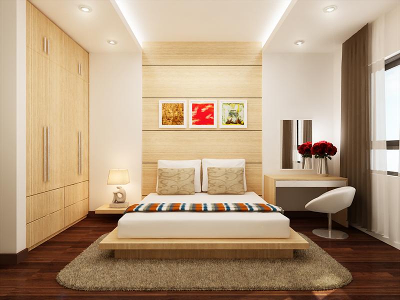 Phòng ngủ  - Làm trần thạch cao cho nhà chung cư