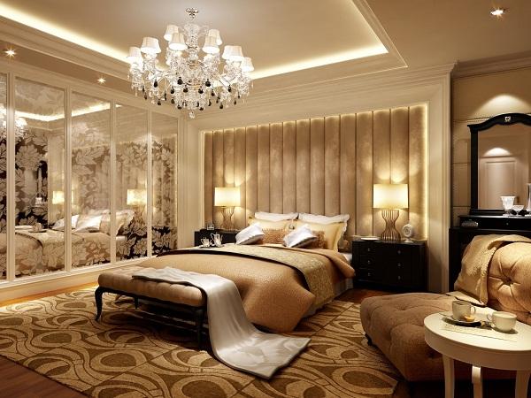 Mẫu 3 - Làm trần thạch cao phòng ngủ hiện đại