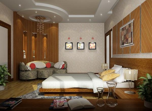 Mẫu 4 - Làm trần thạch cao phòng ngủ hiện đại