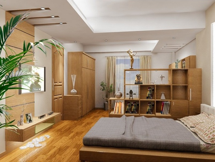 Mẫu 1 - Làm trần thạch cao phòng ngủ hiện đại