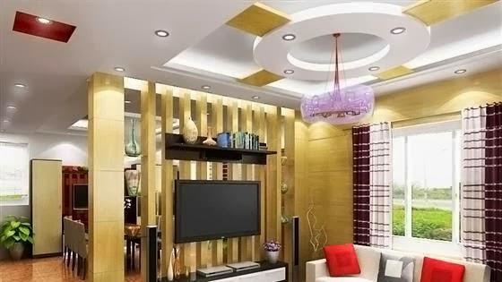 hình ảnh 4- Mẫu trần thạch cao đẹp cho phòng khách