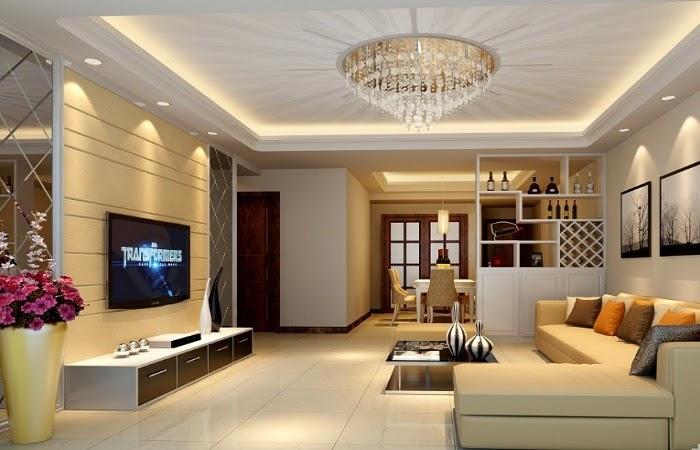 hình ảnh 1- Mẫu trần thạch cao đẹp cho phòng khách