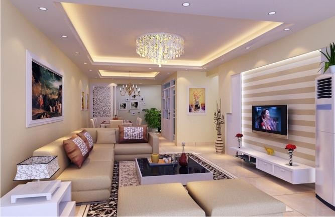 Làm trần thạch cao đẹp cho phòng sinh hoạt chung. 2