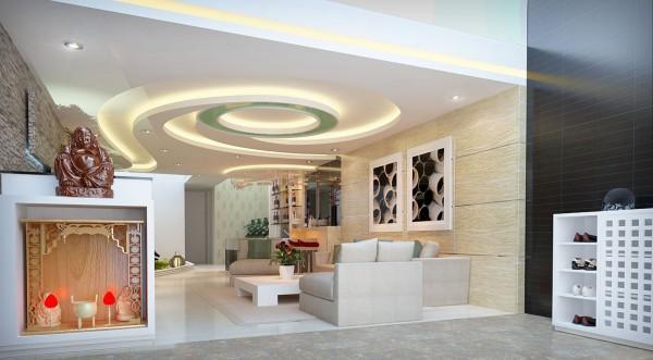 Làm trần thạch cao đẹp cho phòng sinh hoạt chung. 3