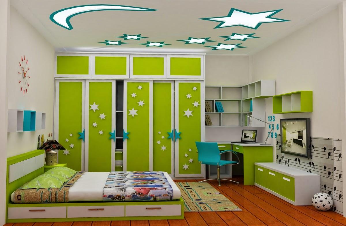 làm trần thạch cao cho phòng ngủ trẻ em. 1