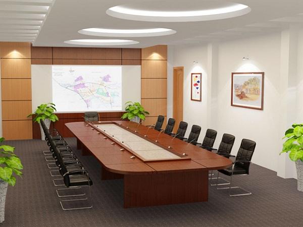 Mẫu trần thạch cao đẹp cho phòng họp. 1