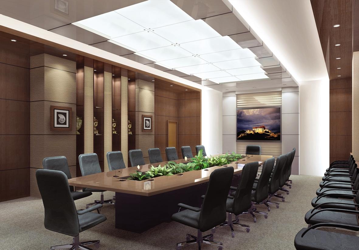 Mẫu trần thạch cao đẹp cho phòng họp. 2