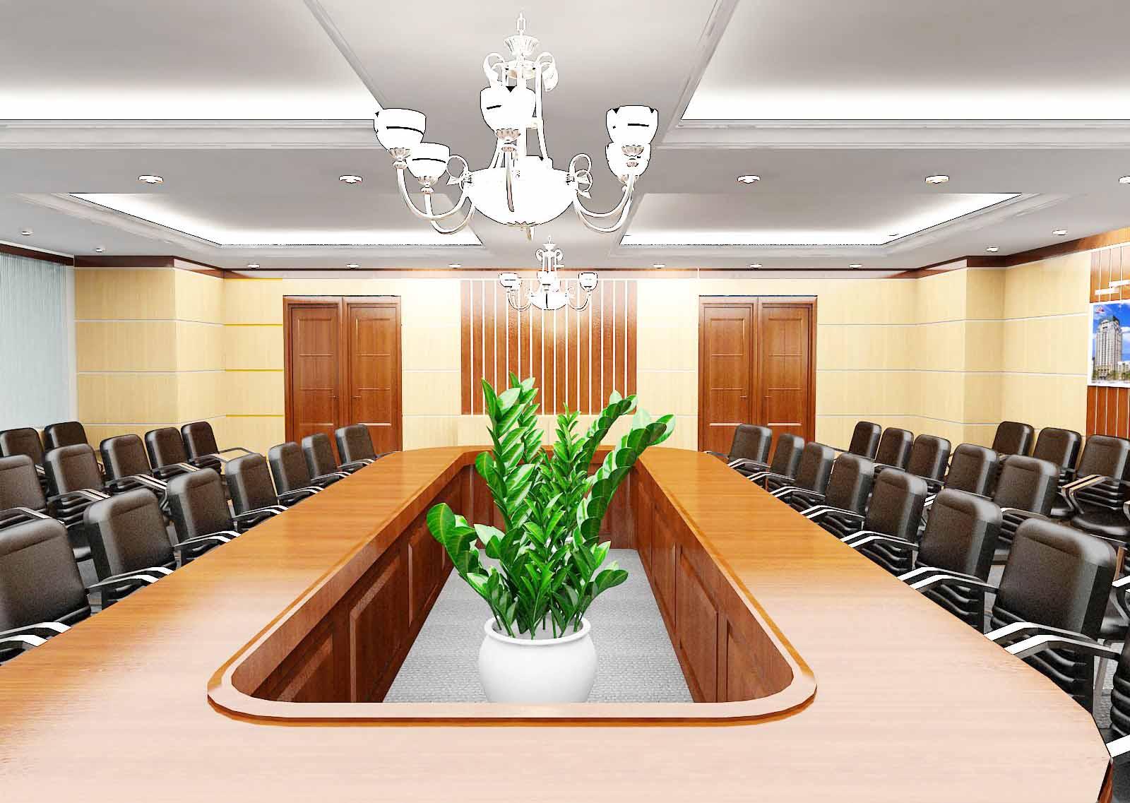 Mẫu trần thạch cao đẹp cho phòng họp. 3