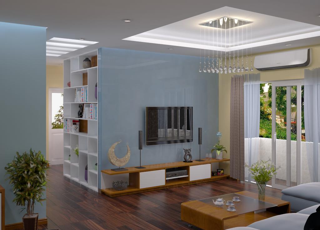 Làm trần thạch cao giật cấp cho phòng khách. 3
