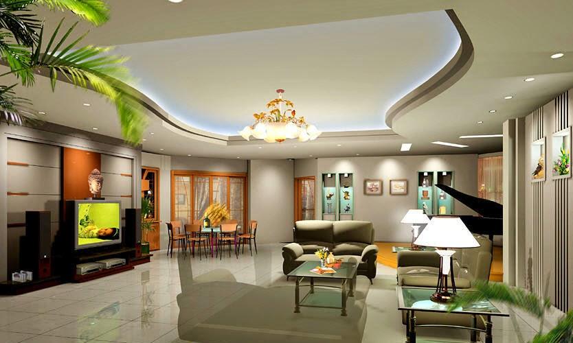 Làm trần thạch cao giật cấp cho phòng khách. 4