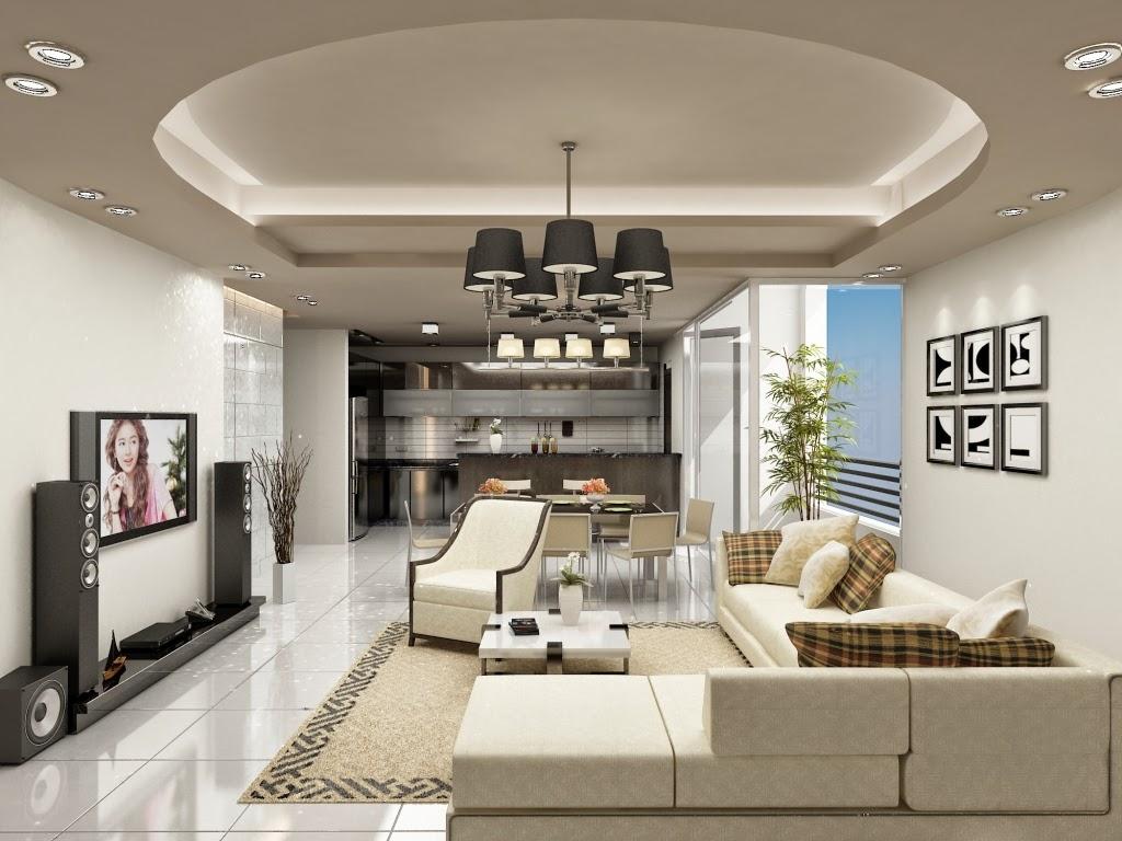 Làm trần thạch cao giật cấp cho phòng khách
