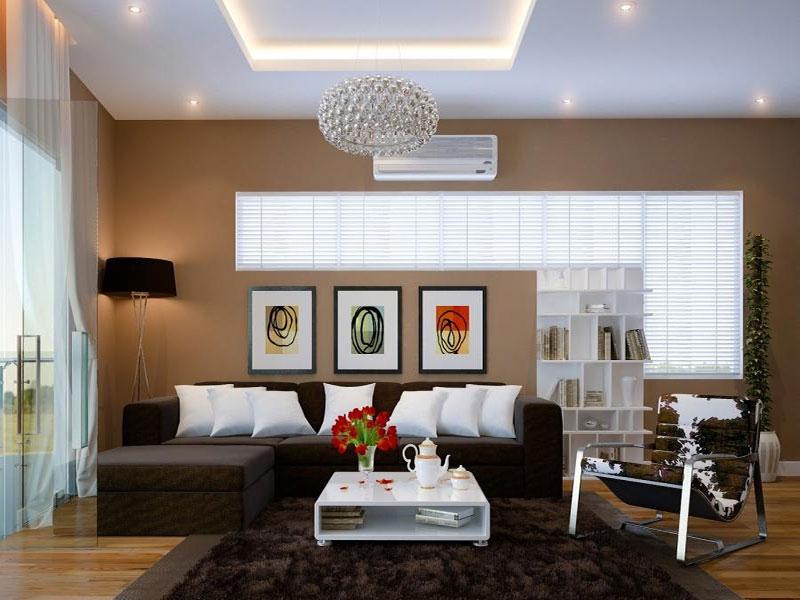 Mẫu trần thạch cao đẹp cho phòng khách sang trọng. 2