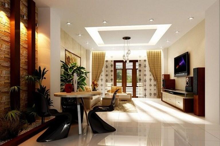 Mẫu trần thạch cao đẹp cho phòng khách sang trọng