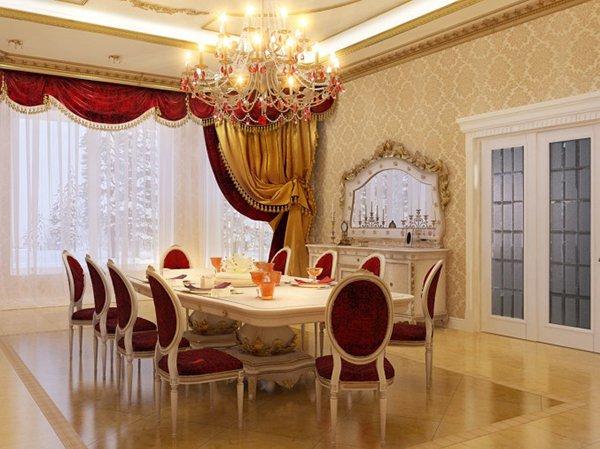 Thi công trần thạch cao cho phòng bếp gia đình phong cách Châu Âu