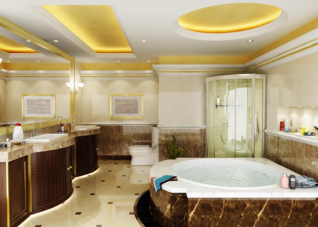 Làm trần thạch cao chống ẩm cho nhà vệ sinh. 3