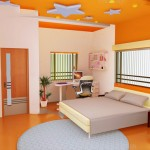 Làm trần thạch cao sinh động cho phòng ngủ bé