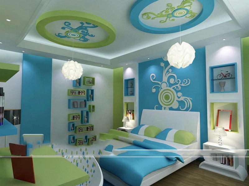 Làm trần thạch cao sinh động cho phòng ngủ bé. 4