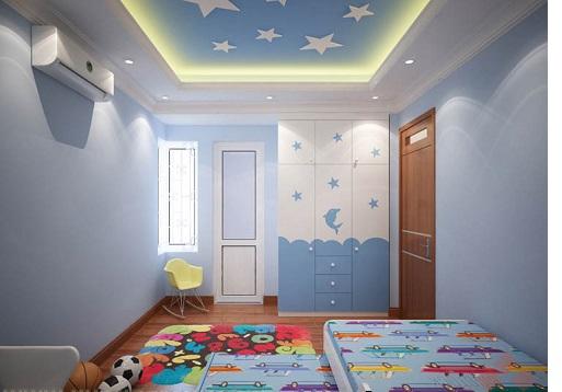 Làm trần thạch cao cho phòng ngủ bé trai. 2