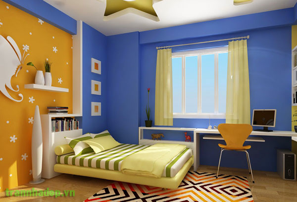 Làm trần thạch cao cho phòng ngủ bé trai. 4