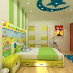 Làm trần thạch cao phòng ngủ trẻ em