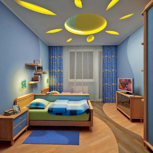 Làm trần thạch cao phòng ngủ trẻ em. 3