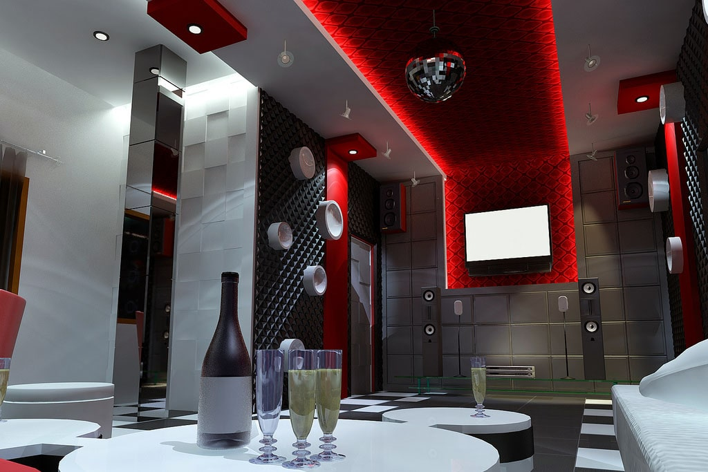 Mẫu trần thạch cao phòng Karaoke 10