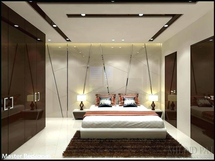 Mẫu trần thạch cao kết hợp gỗ cho phòng ngủ