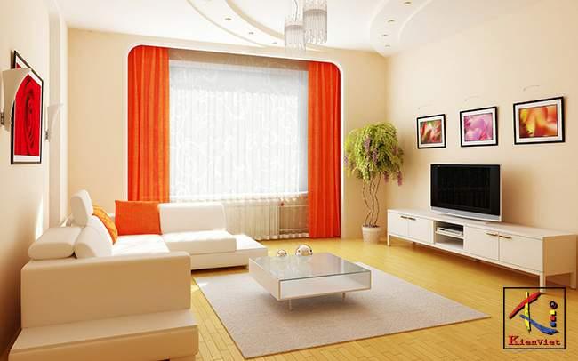Thiết kế trần thạch cao cho phòng khách nhỏ đẹp. 2