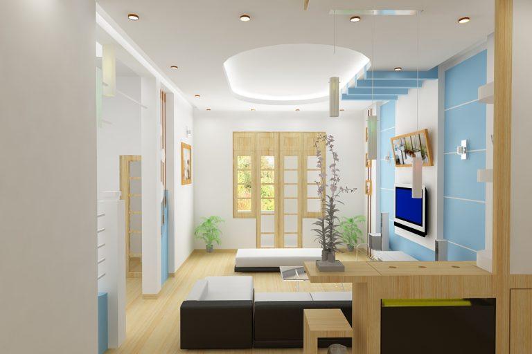 Thiết kế trần thạch cao cho phòng khách nhỏ đẹp. 3