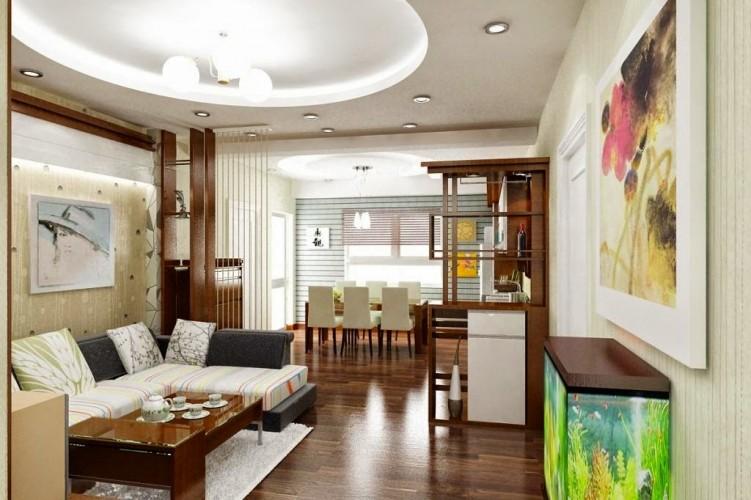 Thiết kế trần thạch cao cho phòng khách nhỏ đẹp. 6