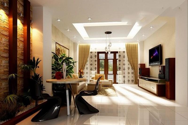 Làm trần thạch cao cho không gian phòng khách lung linh. 2