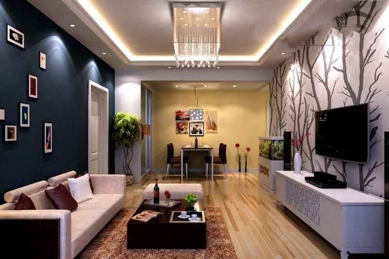 Làm trần thạch cao cho không gian phòng khách lung linh. 3