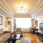 Làm trần thạch cao cho không gian phòng khách lung linh