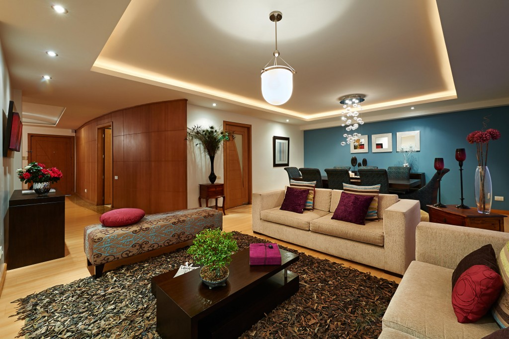 Làm trần thạch cao cho không gian phòng khách lung linh. 5