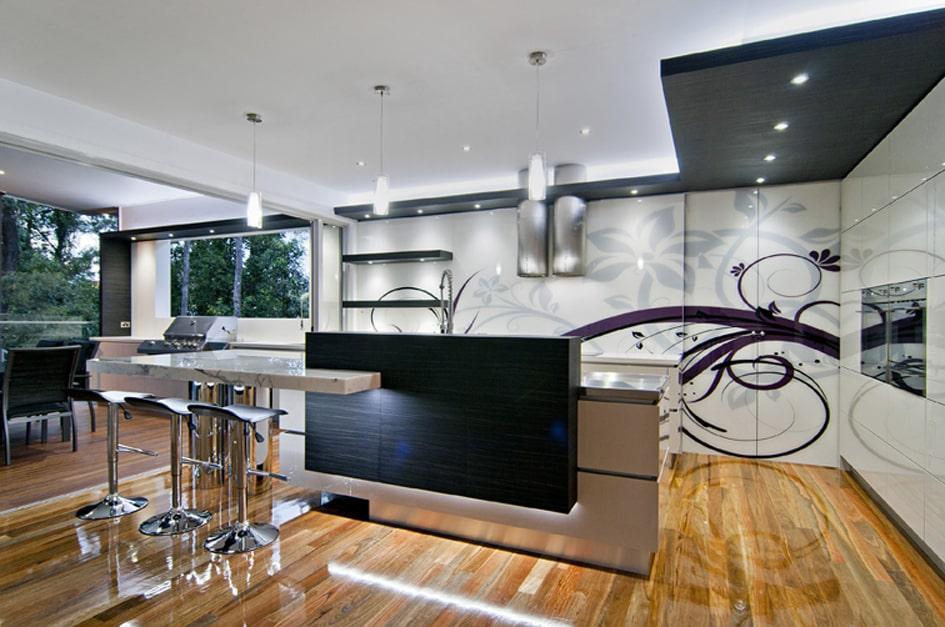 Mẫu trần thạch cao đẹp cho phòng bếp 1